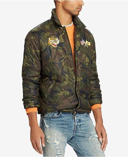 18b155a94b8ae Polo Ralph Lauren Men s Souvenir Coach Jacket   Reviews - Coats ...