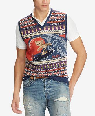 Polo Ralph Lauren Mens Polo Bear Vest Sweaters Men Macys