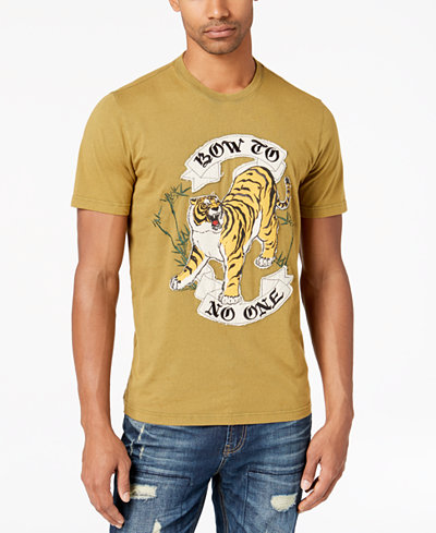 American Rag Men's Embroidered Tiger T-Shirt, Created for Macy's