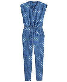 Tommy Hilfiger Star-Print Cotton Jumpsuit, Big Girls