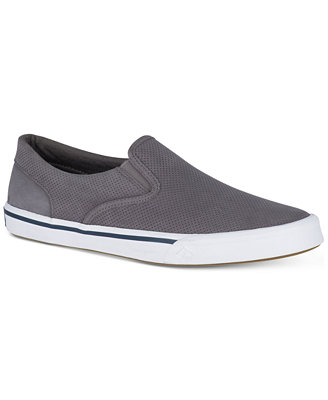 Men's Striper Ii Twin Gore Leather Slip On Sneakers, Created For Macy's by Sperry