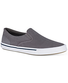 Sperry Men's Striper II Twin Gore Leather Slip-On Sneakers, Created for Macy's