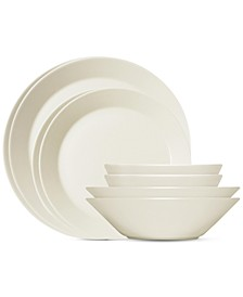 Teema White 16-Pc. Starter Dinnerware Set, Service For 4