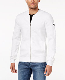 GUESS Men's Textured Sweater-Jacket
