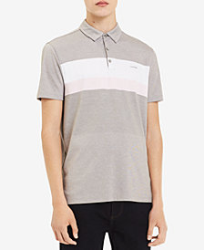 Calvin Klein Men's Pieced Colorblocked Stripe Polo