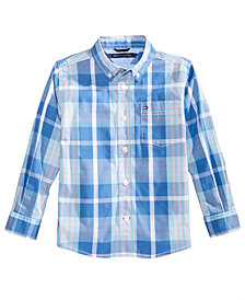 Tommy Hilfiger Stan Plaid Shirt, Little Boys