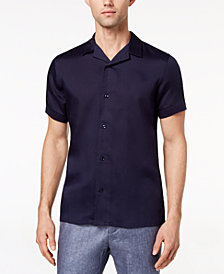 Ryan Seacrest Distinction™ Men's Slim-Fit Navy Knit Sport Shirt, Created for Macy's