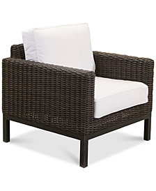 CLOSEOUT! Fiji Aluminum Outdoor Club Chair with Sunbrella® Cushion, Created for Macy's