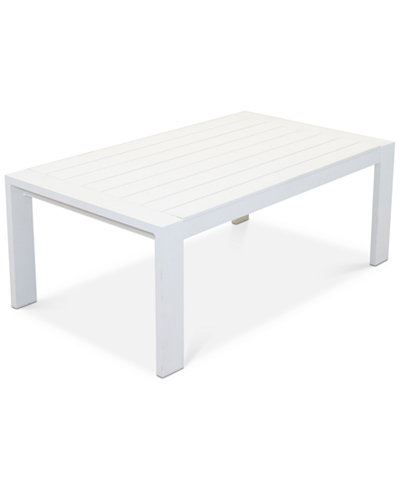 Aruba White Aluminum Coffee Table, Created for Macy's