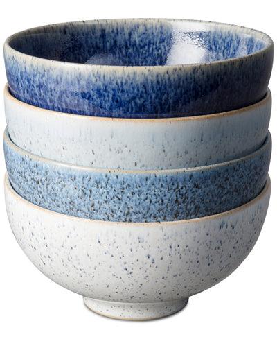 Denby Studio Craft Blue 4-Pc. Rice Bowl Set