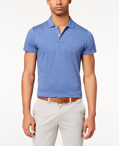 Brooks Brothers Men's Slim-Fit Printed Jersey Polo