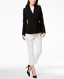 Nine West Tie-Front Jacket & Skinny Pants