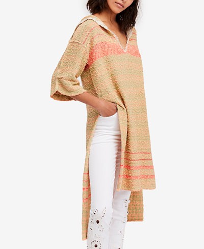 Free People Berkley Hooded Tunic Sweater