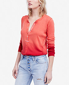 Free People Cozy Up Henley Top