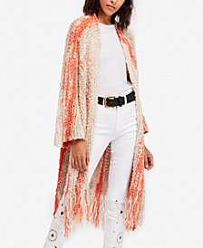 Free People Desert Daze Fringe Duster Cardigan