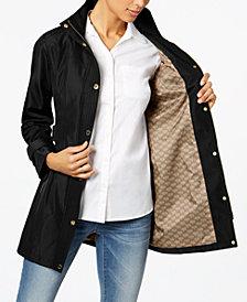 MICHAEL Michael Kors Petite Hooded Belted Softshell Coat