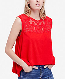 Free People Meant To Be Embroidered Asymmetrical Top