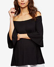 Isabella Oliver Maternity Bell-Sleeve Off-The-Shoulder Top