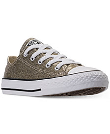 Converse Little Girls' Chuck Taylor Ox Glitter Casual Sneakers from Finish Line