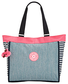 Kipling Shopper Large Denim Tote, Created for Macy's