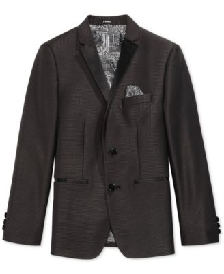 Black Dot Tuxedo Jacket, Big Boys