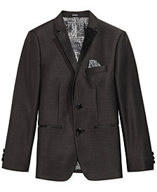 DKNY Black Dot Tuxedo Jacket, Big Boys
