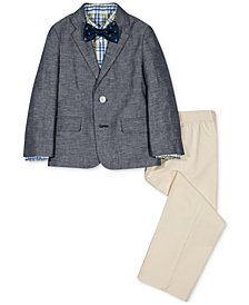 Nautica 4-Pc. Denim Jacket, Plaid Shirt, Pants & Bowtie Set, Toddler Boys