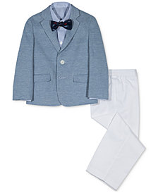 Nautica 4-Pc. Piqué Suit Set, Little Boys