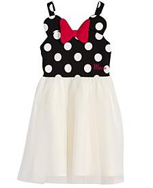 Little Girls Minnie Mouse Polka Dot & Mesh Dress