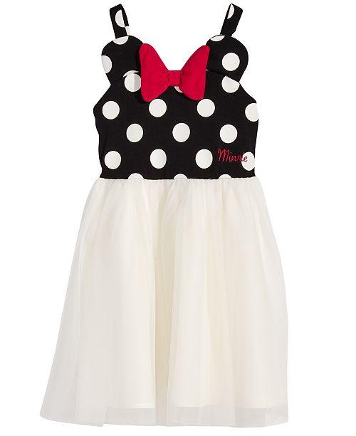 0e9c4361e55 Little Girls Minnie Mouse Polka Dot & Mesh Dress