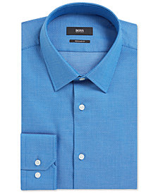 BOSS Men's Birdseye Cotton Dress Shirt