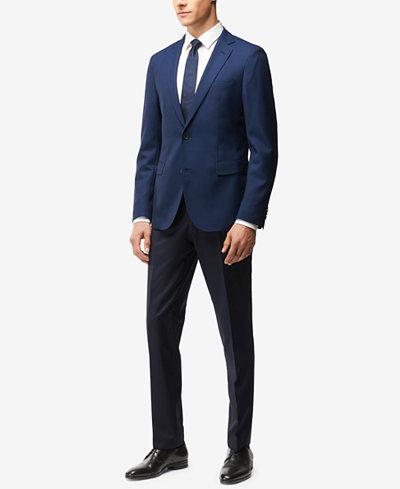 BOSS Men's Extra Slim Fit Puppytooth Virgin Wool Suit