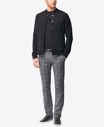 BOSS Men's Slim-Fit Glen Check Pants