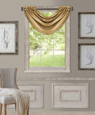 """Versailles 52"""" x 36"""" Room Darkening Window Valance"""