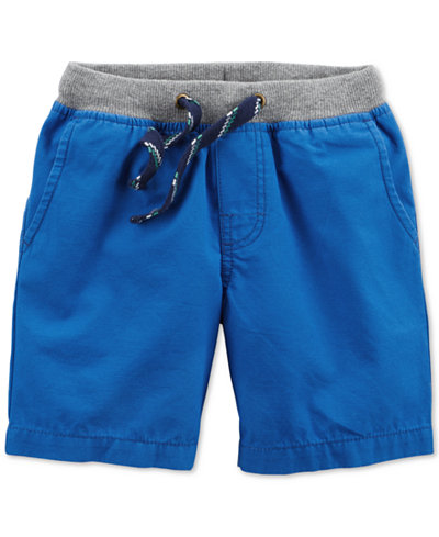 Carter's Ribbed-Waist Cotton Shorts, Toddler Boys