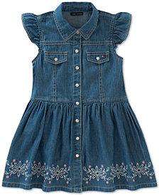Tommy Hilfiger Embroidered Denim Dress, Toddler Girls