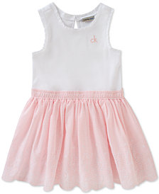 Calvin Klein Embroidered Cotton Dress, Toddler & Little Girls