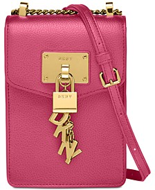 Elissa Pebbled Charm Chain Strap Crossbody, Created for Macy's