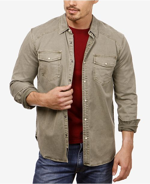 961bc7fd Lucky Brand Men's Workwear Western Shirt; Lucky Brand Men's Workwear Western  ...