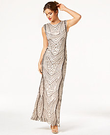As U Wish Juniors' Sequin Cutout Gown