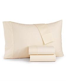 Bari 350 Thread Count 4-Pc. Solid California King Sheet Set