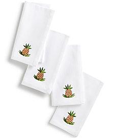 Leila's Linens Pineapple Set of 4 Napkins