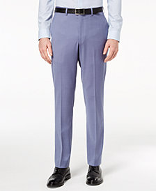 DKNY Men's Modern-Fit Stretch Blue Suit Pants