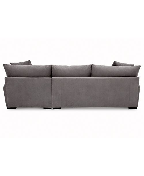 Furniture Rhyder 2 Pc Fabric Sectional With Chaise