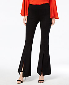 I.N.C. Curvy Split-Leg Bootcut Pants, Created for Macy's