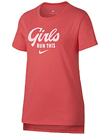 Nike Graphic-Print Cotton T-Shirt, Big Girls