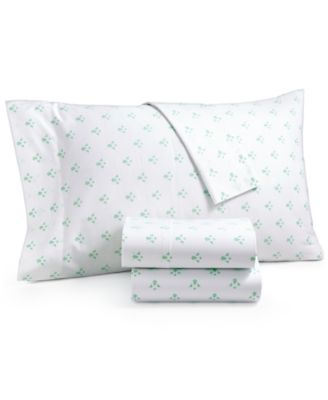 CLOSEOUT! Organic 4-Pc. Printed Queen Sheet Set, 300 Thread Count GOTS Certified, Created for Macy's