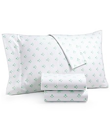 CLOSEOUT! Martha Stewart Collection Organic Printed Pillowcase Pair, 300 Thread Count GOTS Certified, Created for Macy's