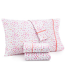 CLOSEOUT! Whim by Martha Stewart Collection Novelty Print California King 4-pc Sheet Set, 200 Thread Count 100% Cotton Percale, Created for Macy's