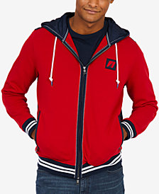 Nautica Men's Mixed-Media Hoodie